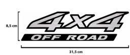 Par de Adesivo Lateral 4x4 Off Road Nissan Frontier 2005 À 2012