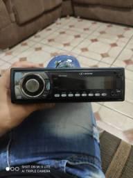 Som automotivo H-Buster HBD-7360MP com USB e leitor de cartão SD