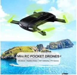 Drone Selfie Wifi De Bolso D5 Com Camera 480p Novo na Caixa