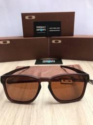 Óculos Oakley Latch squared brown polarizado novo