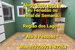 Título do anúncio: ALUGO CASA PARA FERIADOS e TEMPORADAS PARA ATÉ 4 PESSOAS.