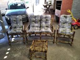 Cadeiras de bambu primeira linha