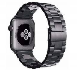 Título do anúncio: Pulseira Metálica pra Apple Watch 42/44mm  Preto ou Prata