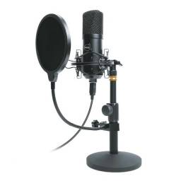 microfone dazz broadcaster profissional usb 2.0 c/ pedestal