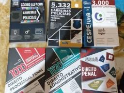 Título do anúncio: Livros para concurso, carreiras polociais