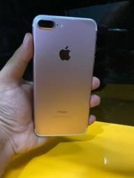 iPhone 7 Plus 128gb rosé, aceito cartão!