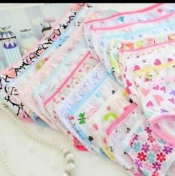 Calcinhas infantil de algodão
