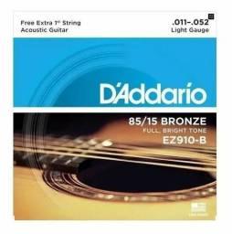 Encordoamento Violão Aço Daddario Ez910 011 Bronze(entrega grátis Goiânia e região)