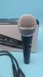 Microfone SM58 profissional com fio/compre agora entrega grátis