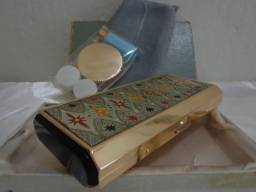 Bolsa Antiga de Festa com Caixa de Música. Raridade. Maravilhosa.