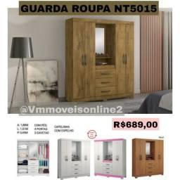 Guarda Roupas nt5015 com espelho Entrega Goiânia e Aparecida