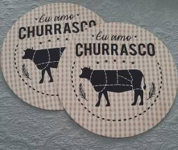Sousplat Churrasco .