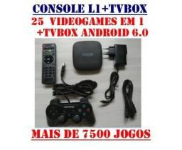 Retro-Console L1+TVBox: 25 VideoGames em 1!! 7500 Jogos