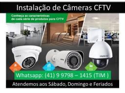 Câmeras de Segurança Mais Instalação Com Acesso Via Celular,Tablet,Notebook e Computadores