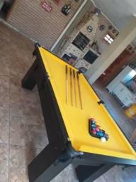 Mesa de Redes Cor Preta Tecido Amarelo Mod. WRBI3558