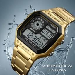 Relógio A Prova D'água Original!! Aço inoxidável, manual e caixa!! Clássico