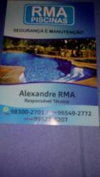 Guardião e manutenção de piscinas