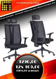 Poltrona Presidente telada Home office certificado Abnt Nbr 13962 : 2018