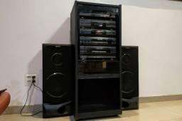 Conjunto de som Sony 4x1 com Rack