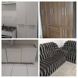 Guarda roupa+armário+sofá 450,00