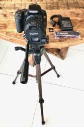 """Câmera Canon SL3DSLR 24 IMP, 3"""", Gravação em Full HD-EF-S 18-55mm"""