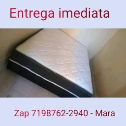 TRIPLA CAMADA DE ESPUMA CAMA CASAL LACRADAS FRETE GRÁTIS