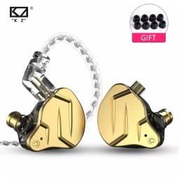 Fones de ouvido KZ ksn pro X + Bolsinha