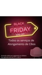 Black Friday Alongamento de Cílios