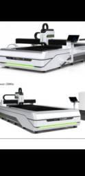 Máquina de corte a laser fibra metal 1000w a pronta entrega