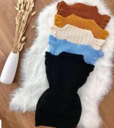 Garrafinha babado em tricô