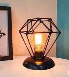 Luminária de mesa Diamante Vintage