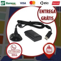 Kit Bateria Controle Xbox 360 e Cabo Carregador