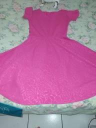 Vestido godê rosa Tam P