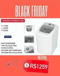 Lavadora automática Black Friday super promoção de fim de ano