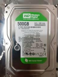 HD 500GB Western Digital Green SATA 16MB cache para PC desktop DVR