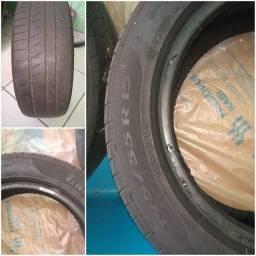 Vendo par de pneus 195/55/15 com 50% de uso ainda roda muito