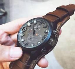 Relógio esportivo masculino, casual.