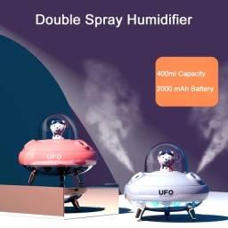 Título do anúncio: Umidificador De Ar Dupla Saida Spray UFO Recarregável Mini USB Tipo C umidificador de ar