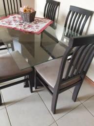 Título do anúncio: Vendo mesa de sala 6 cadeiras em boas condições R$960