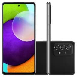 Smartphone Samsung Galaxy A52 128Gb Tela 6.5 6Gb Ram 4 Câmeras Preto Lacrado+Nf