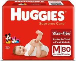 Título do anúncio: Fralda Huggies Supreme Care M - 80 Unidades / Não entrego / Garça