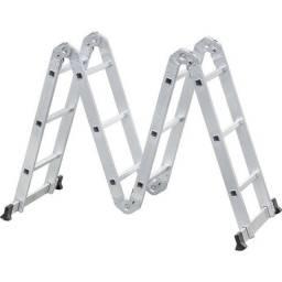 Escada articulada em alumínio, 3 x 4, Vonder (Novo)