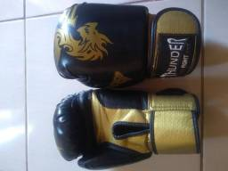 Luva de Boxe, Muay Thai, protetor bucal e bandagem