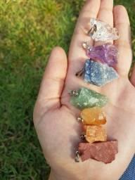 Título do anúncio: Todos os pingentes de cristais brutos disponíveis: