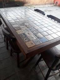 Título do anúncio: Mesa com azulejos Vintage - SOB ENCOMENDA