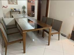 Mesa 6 cadeiras + Aparador + Espelho