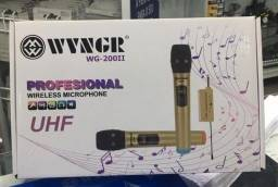 Título do anúncio: Microfone Duplo Uhf Profissional