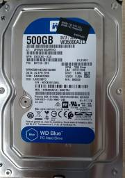 Três Unidades HD Western Digital 500GB - Retirado de Deskotp HP I5