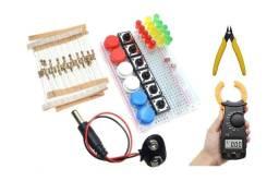 Título do anúncio: Kit Protoboard, mais Multímetro e Ferramenta Multifuncional Corte de fios - 73pcs