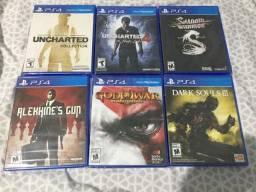 Pack jogos PS4 novos!!